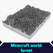 Minecraft world Forest 3d model