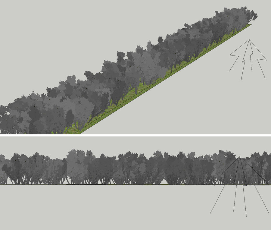 Multiscatter Bushes royalty-free 3d model - Preview no. 11