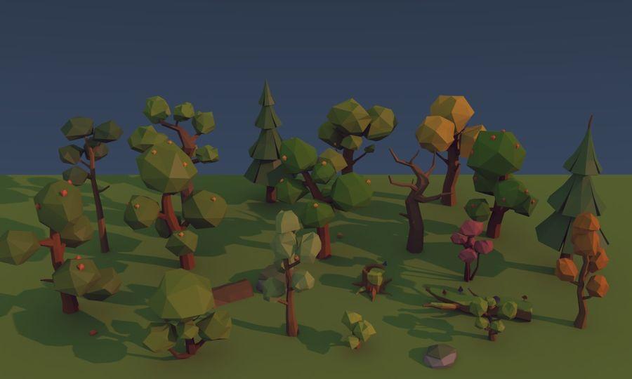 낮은 폴리 나무 royalty-free 3d model - Preview no. 6