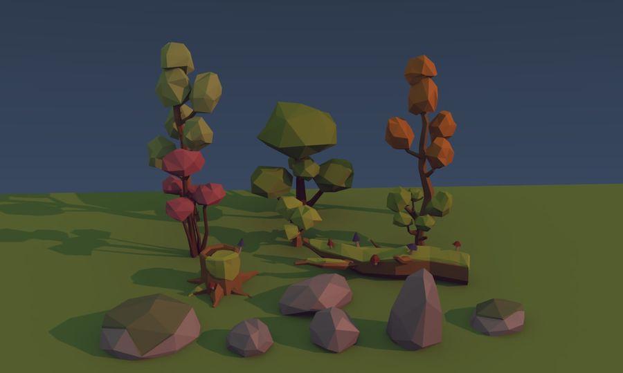 낮은 폴리 나무 royalty-free 3d model - Preview no. 2