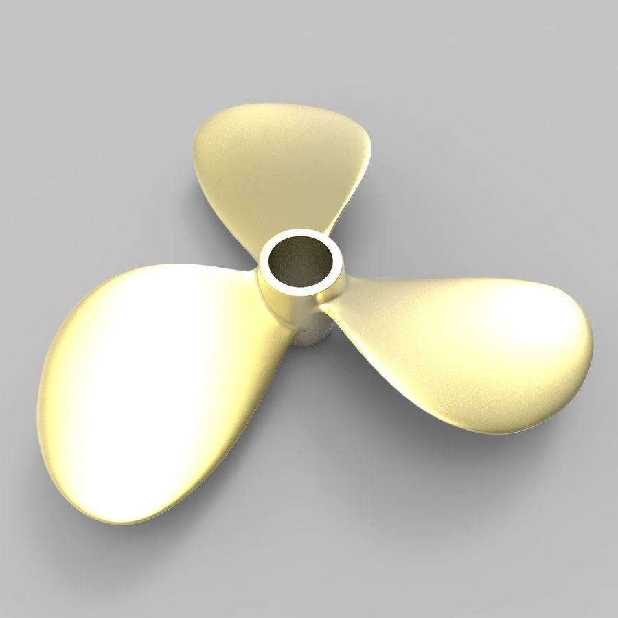 Propeller 3 Blades royalty-free 3d model - Preview no. 2