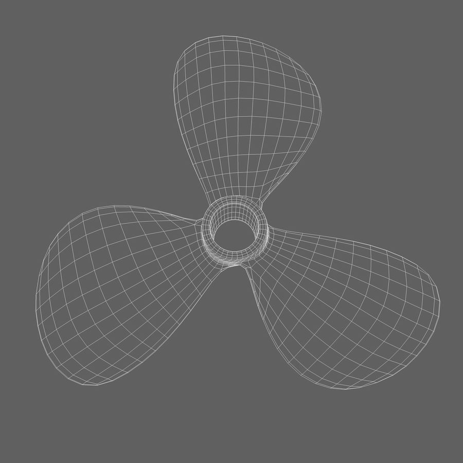 Propeller 3 Blades royalty-free 3d model - Preview no. 9