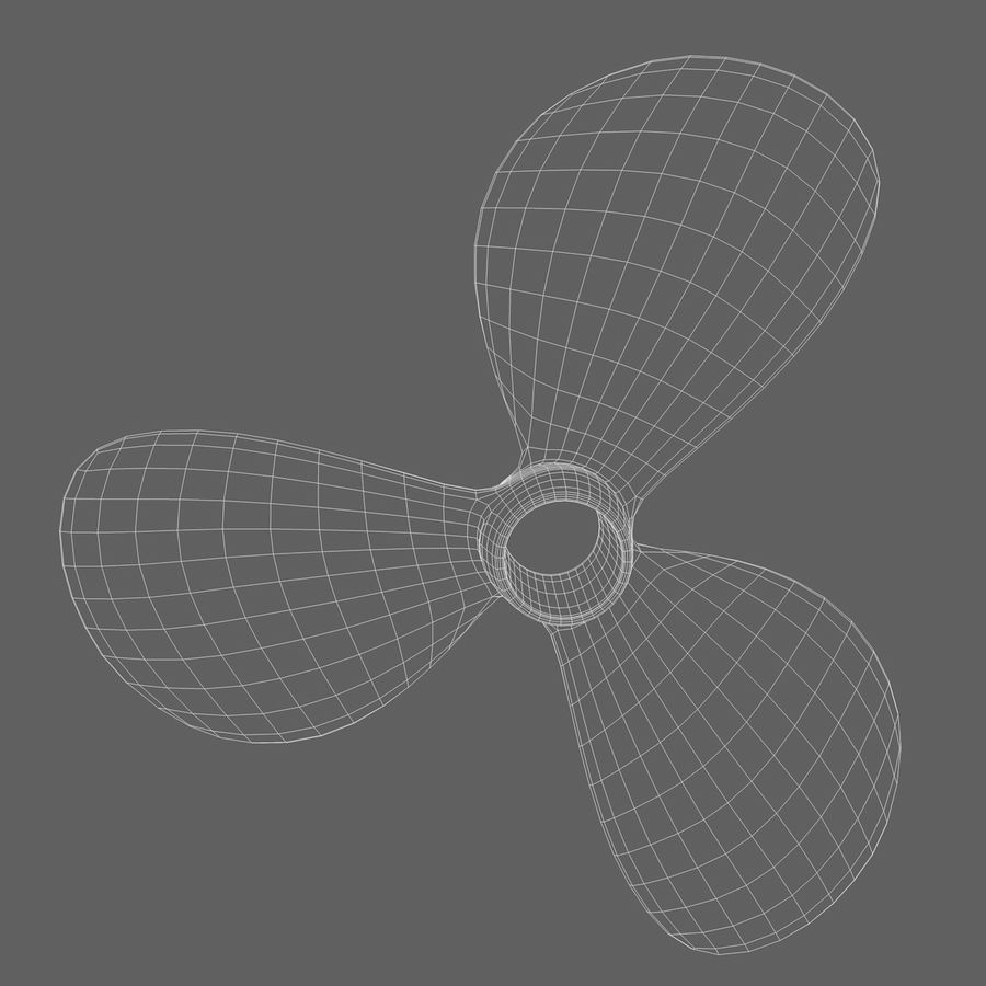 Propeller 3 Blades royalty-free 3d model - Preview no. 11