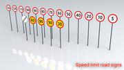 Snelheidsbeperking Verkeersborden 3d model