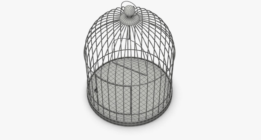 Bird Cage royalty-free 3d model - Preview no. 10