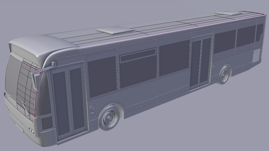 city bus royalty-free 3d model - Preview no. 43