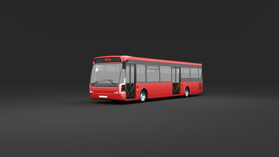 city bus royalty-free 3d model - Preview no. 2