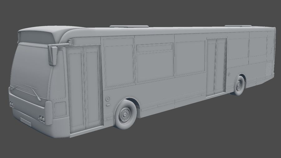city bus royalty-free 3d model - Preview no. 36
