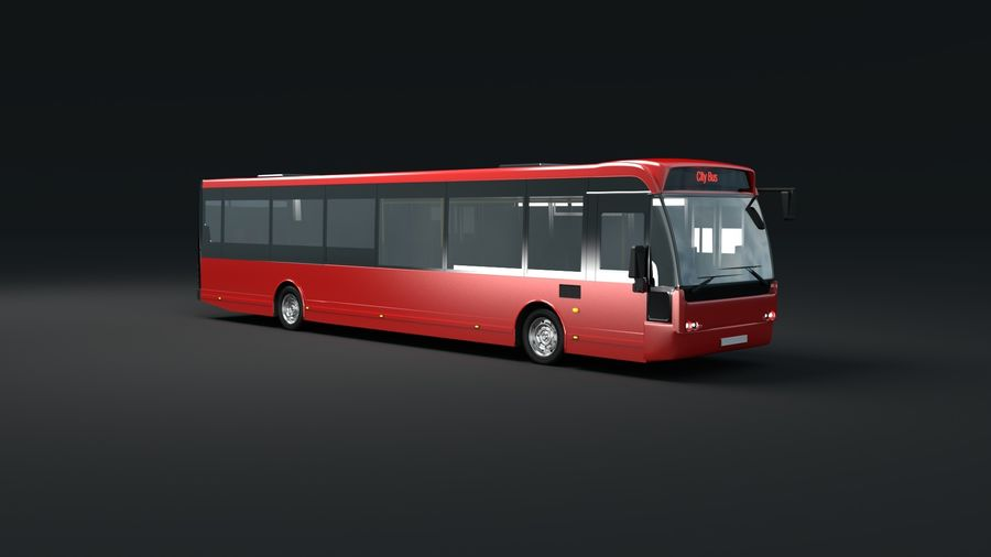 city bus royalty-free 3d model - Preview no. 6