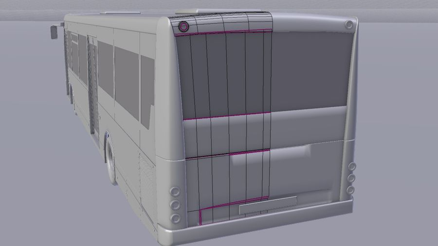 city bus royalty-free 3d model - Preview no. 20
