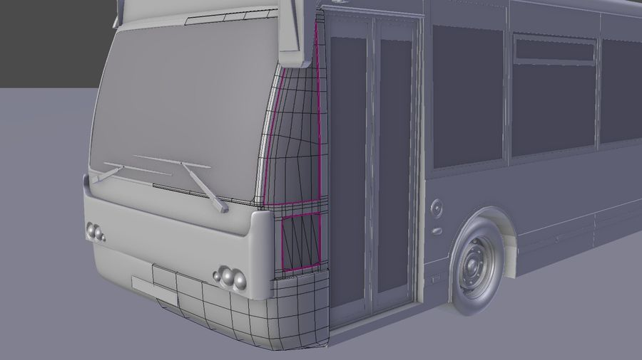 city bus royalty-free 3d model - Preview no. 17