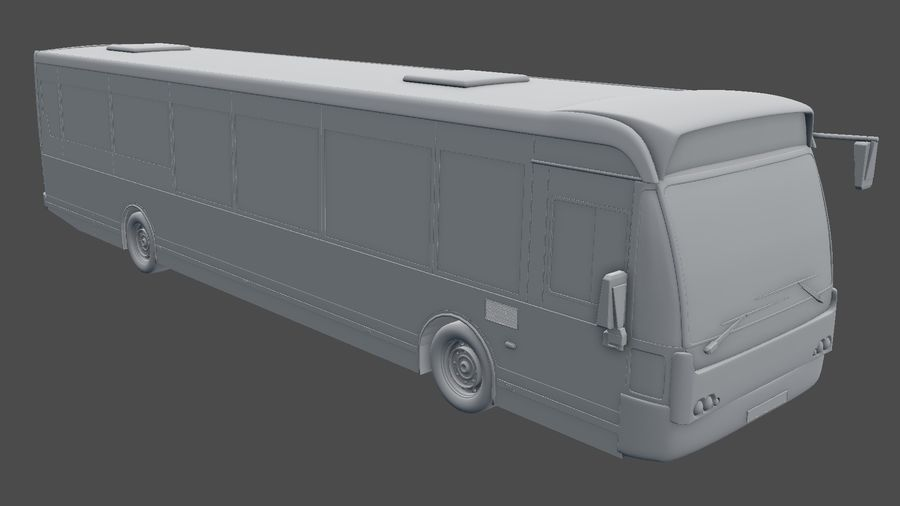 city bus royalty-free 3d model - Preview no. 27