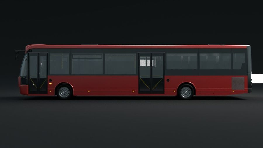 city bus royalty-free 3d model - Preview no. 11