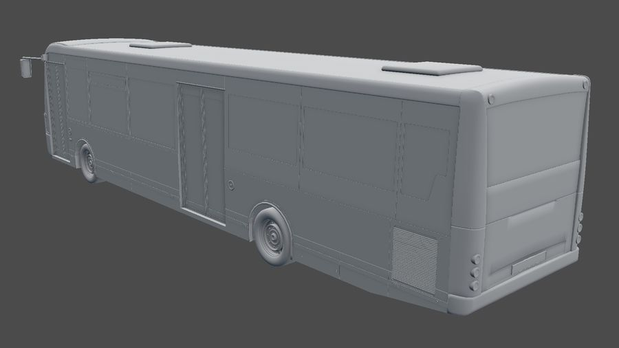 city bus royalty-free 3d model - Preview no. 28