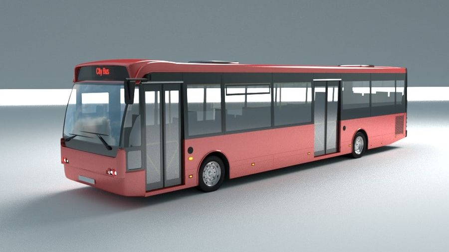 city bus royalty-free 3d model - Preview no. 4