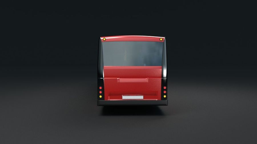 city bus royalty-free 3d model - Preview no. 9