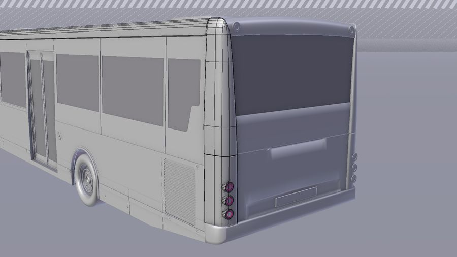 city bus royalty-free 3d model - Preview no. 18