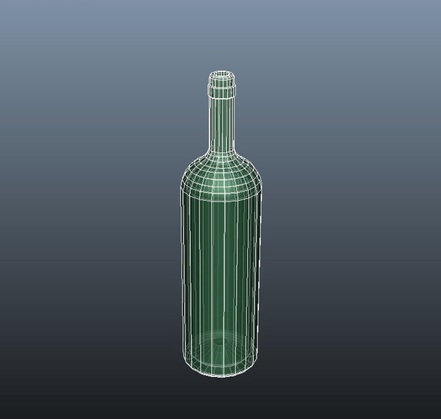 Glass Bottle royalty-free 3d model - Preview no. 5
