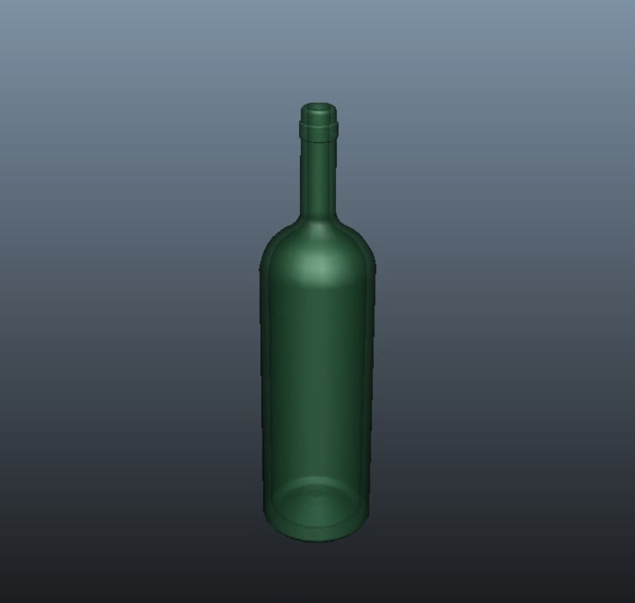 Glass Bottle royalty-free 3d model - Preview no. 3