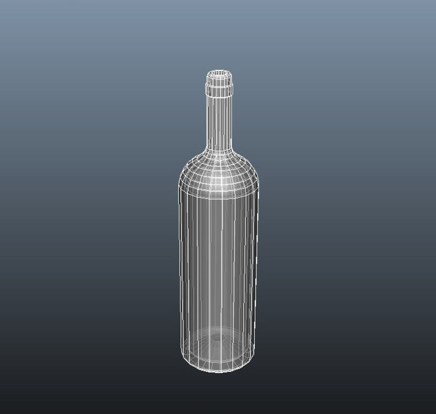 Glass Bottle royalty-free 3d model - Preview no. 6