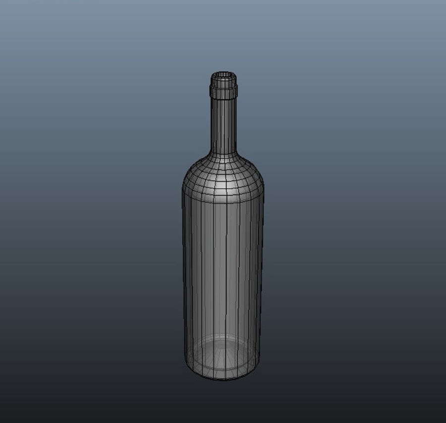 Glass Bottle royalty-free 3d model - Preview no. 7