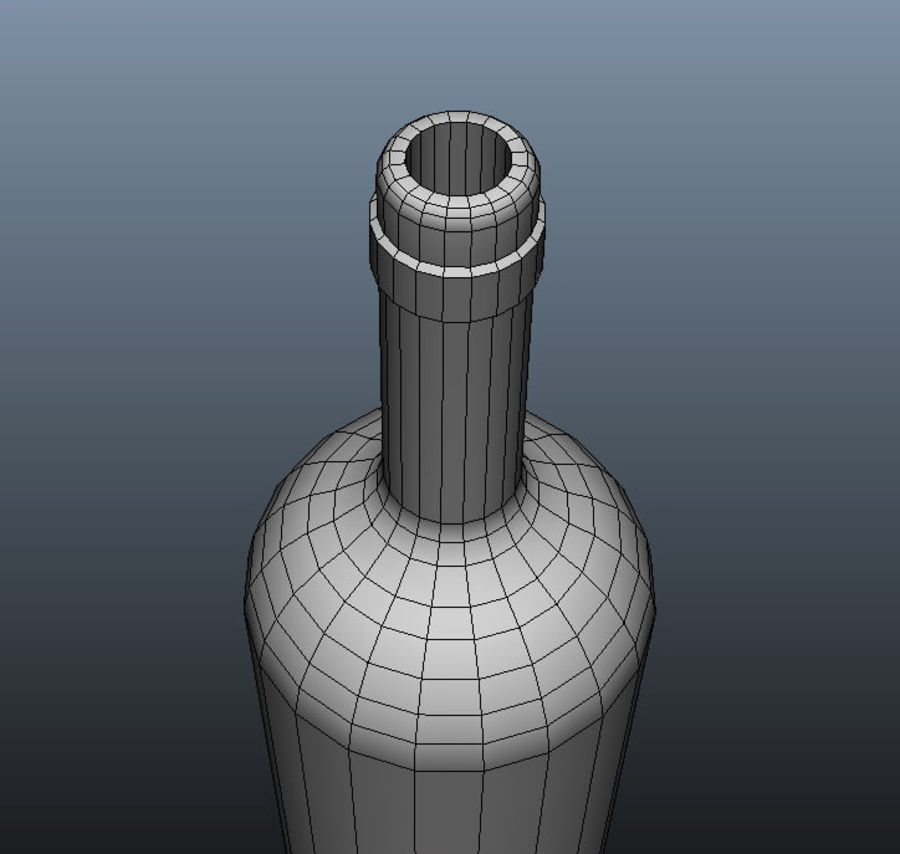 Glass Bottle royalty-free 3d model - Preview no. 8