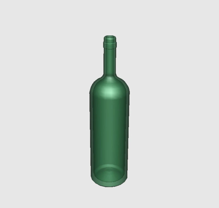 Glass Bottle royalty-free 3d model - Preview no. 2