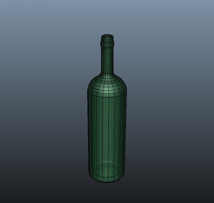 Glass Bottle royalty-free 3d model - Preview no. 4