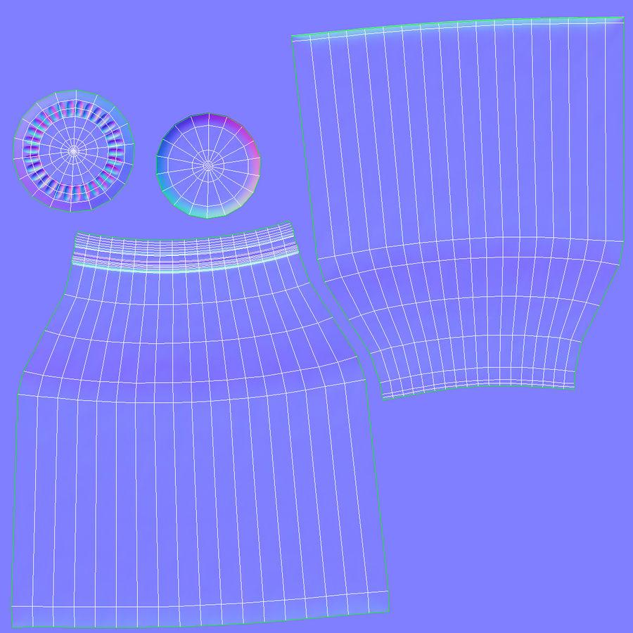 우유 반 갤런 유리 병 빈 royalty-free 3d model - Preview no. 17