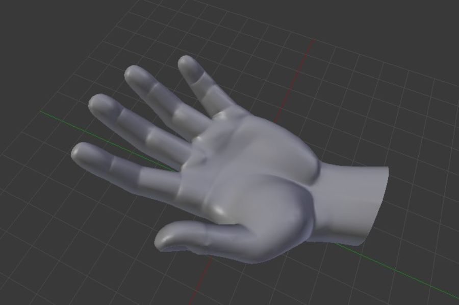Pied et main humaine royalty-free 3d model - Preview no. 6