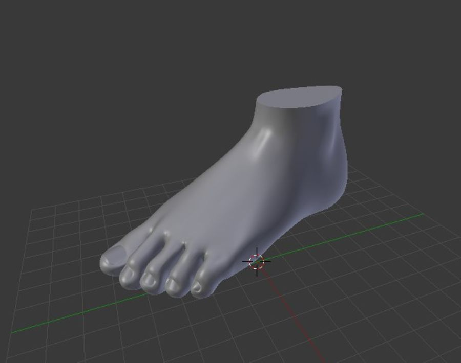Pied et main humaine royalty-free 3d model - Preview no. 9