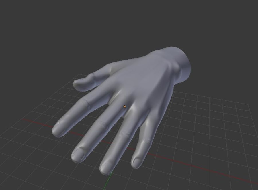 Pied et main humaine royalty-free 3d model - Preview no. 7