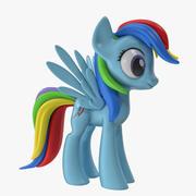 Мой маленький пони радуга тире 3d model