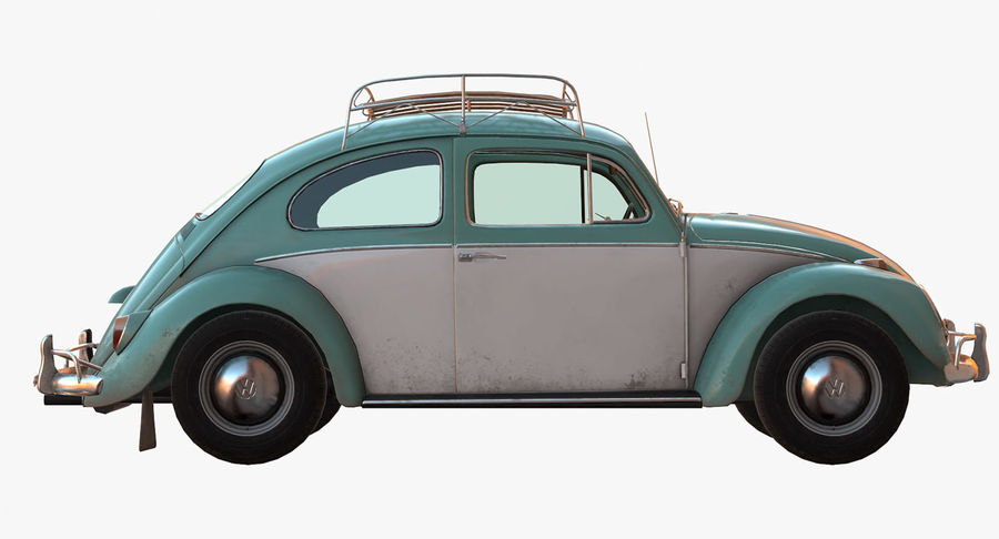 Volkswagen Beetle Classic Low Poly royalty-free 3d model - Preview no. 7