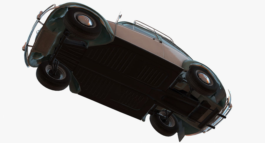 Volkswagen Beetle Classic Low Poly royalty-free 3d model - Preview no. 11