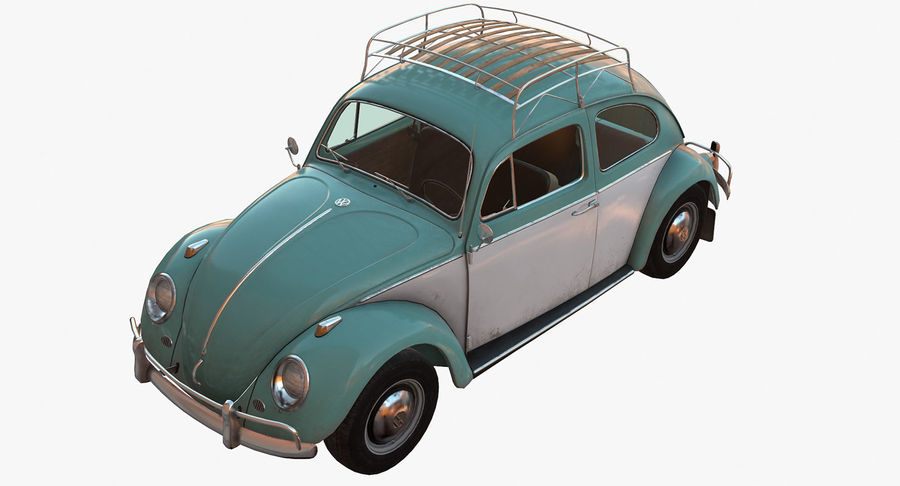 Volkswagen Beetle Classic Low Poly royalty-free 3d model - Preview no. 3