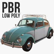 Volkswagen Beetle Classic Low Poly 3d model
