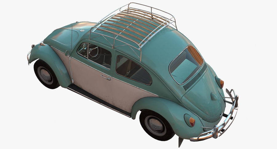 Volkswagen Beetle Classic Low Poly royalty-free 3d model - Preview no. 5