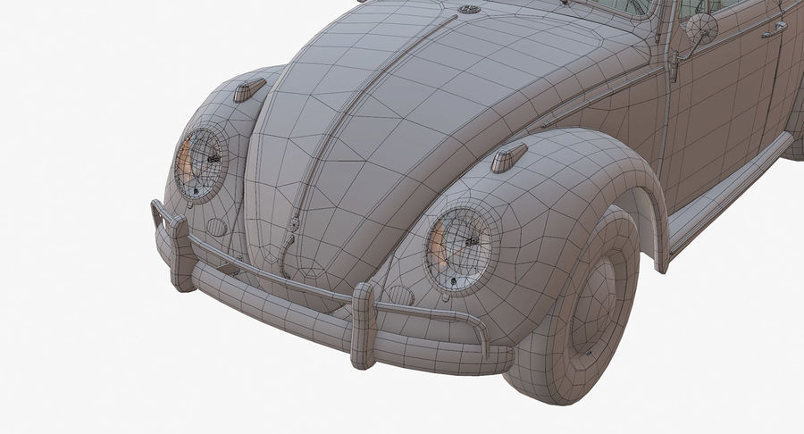 Volkswagen Beetle Classic Low Poly royalty-free 3d model - Preview no. 18