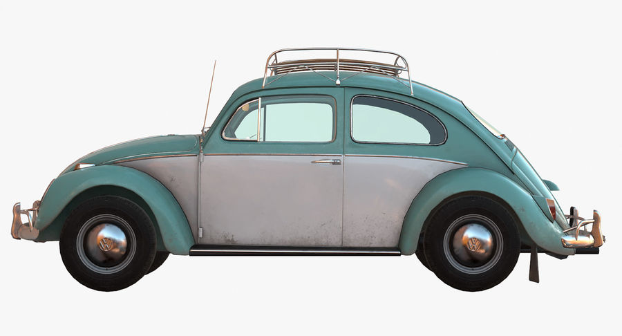 Volkswagen Beetle Classic Low Poly royalty-free 3d model - Preview no. 6