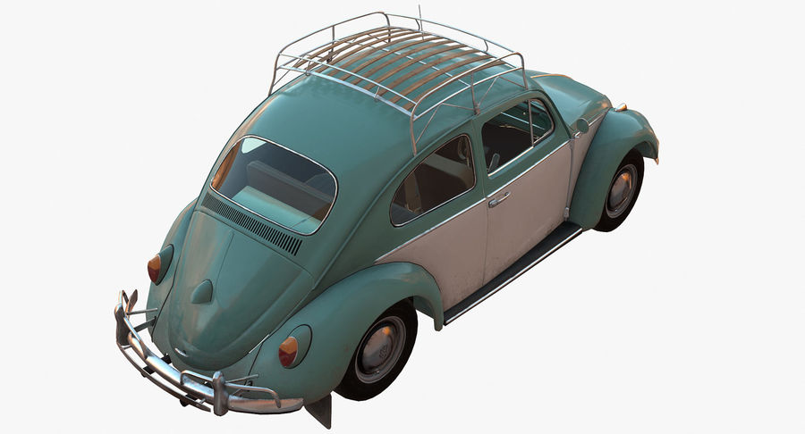 Volkswagen Beetle Classic Low Poly royalty-free 3d model - Preview no. 4