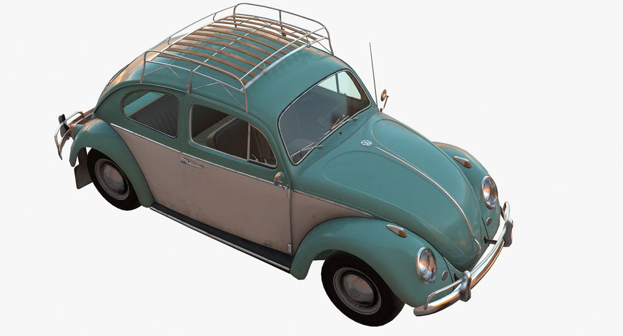 Volkswagen Beetle Classic Low Poly royalty-free 3d model - Preview no. 2