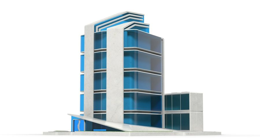 sci-fi building royalty-free 3d model - Preview no. 3