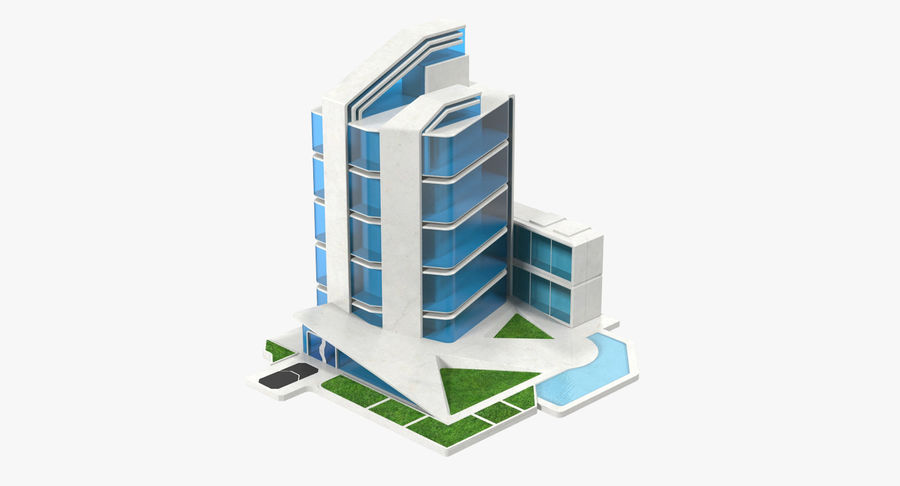 sci-fi building royalty-free 3d model - Preview no. 1
