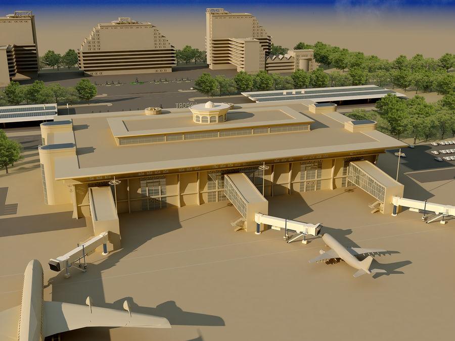 Аэропорт (1) royalty-free 3d model - Preview no. 3