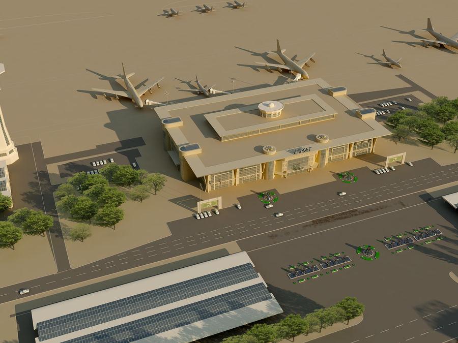 Аэропорт (1) royalty-free 3d model - Preview no. 9