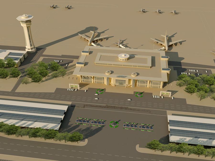 Аэропорт (1) royalty-free 3d model - Preview no. 8