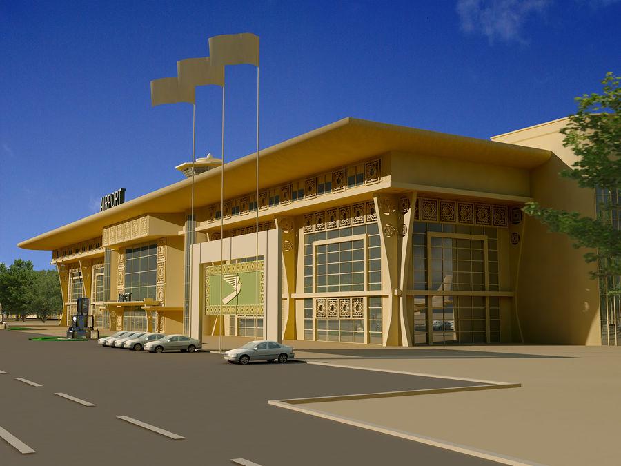 Аэропорт (1) royalty-free 3d model - Preview no. 12