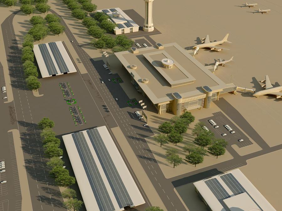 Аэропорт (1) royalty-free 3d model - Preview no. 11