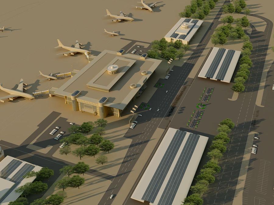 Аэропорт (1) royalty-free 3d model - Preview no. 10